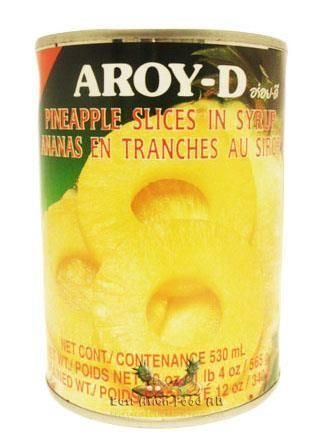 AROY-D PINEAPPLE IN SYRUP 565G