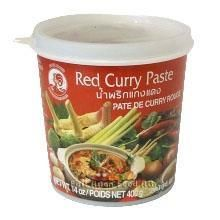 COCK BR.RED CURRY PASTE 400GR