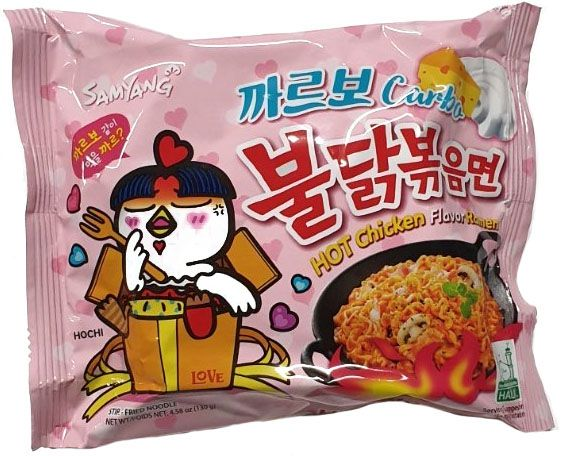 INSTANT NOODLE RAMEN HOT CHICKEN CARBO