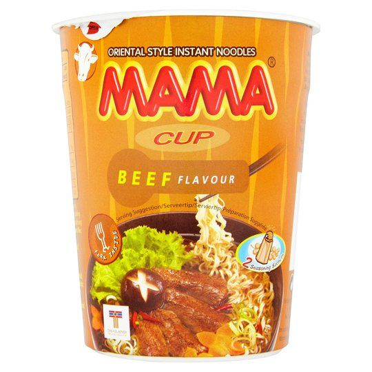 INSTANT NOODLE CUP BEEF FLAVOUR